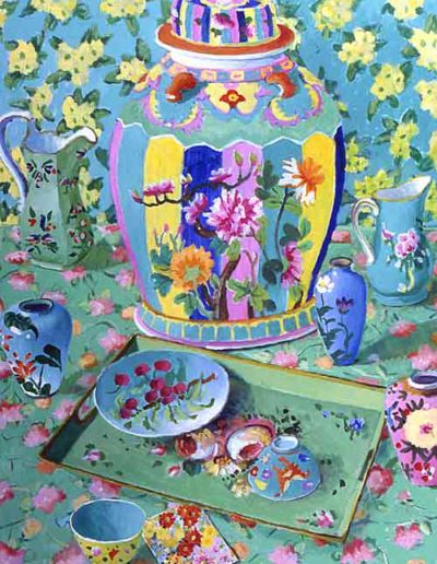 "Ginger Jar Series Green Still Life • 48"" by 36"" • £4950"