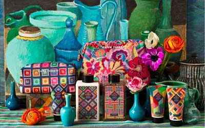 The new beauty collection from iconic textiles designer, Kaffe Fassett