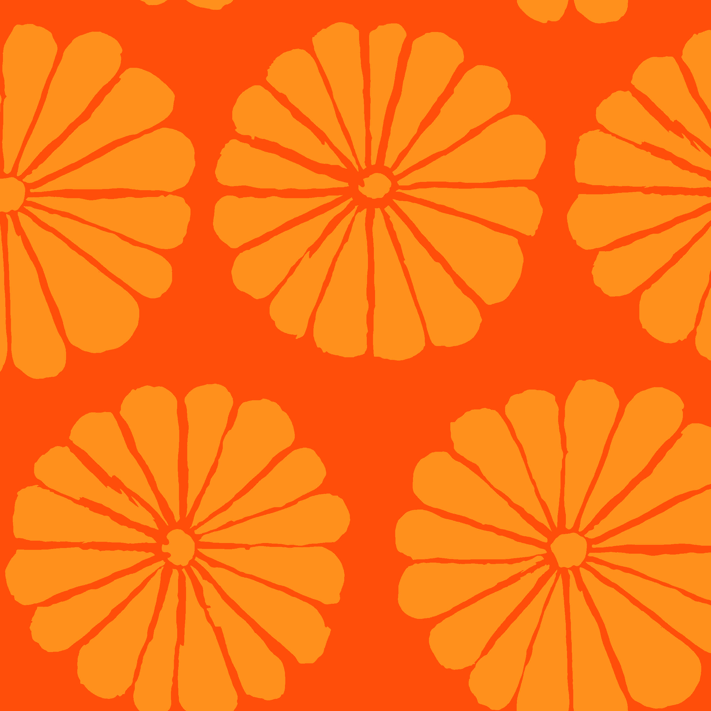 Damask Flower - PWGP183 - Orange