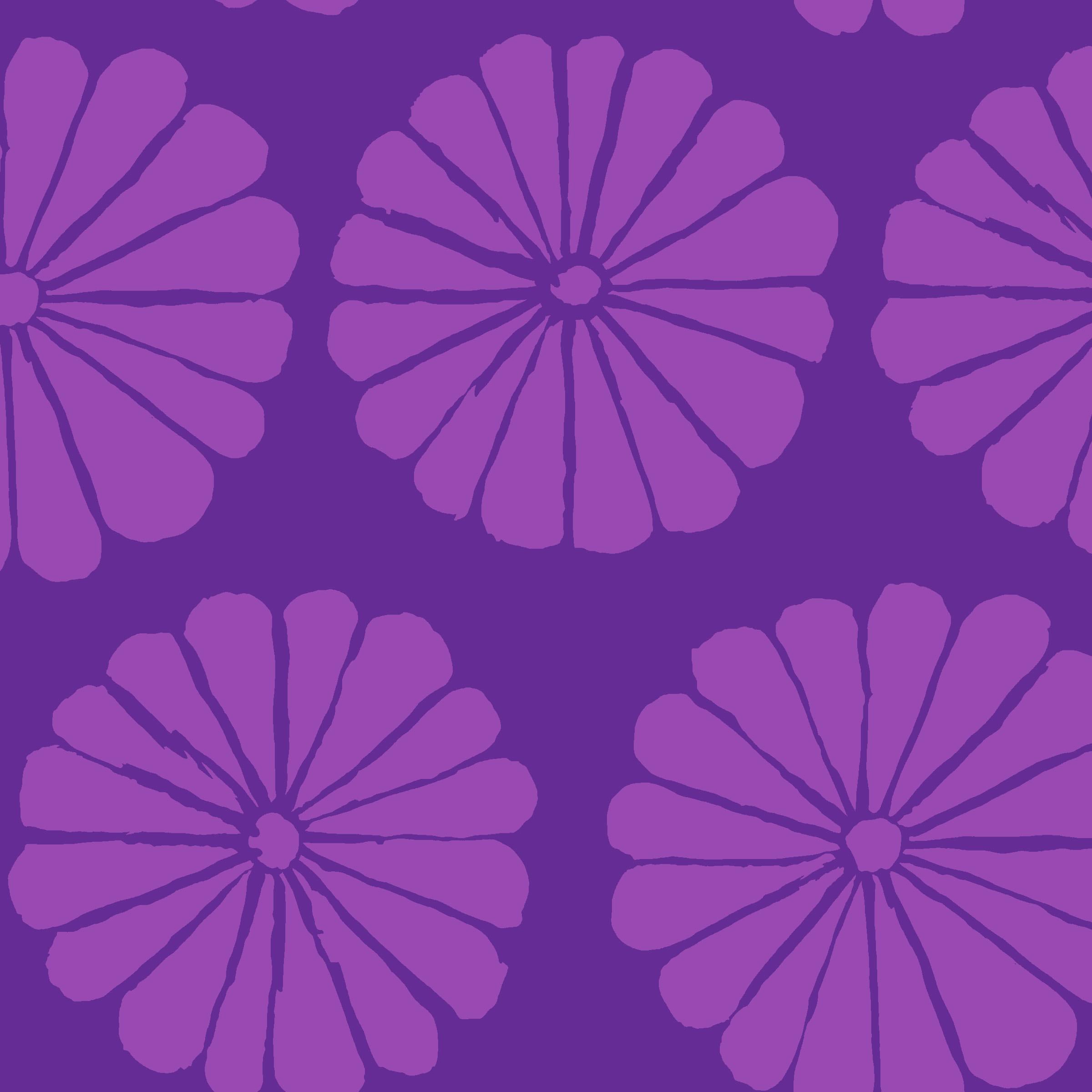 Damask Flower - PWGP183 - Purple
