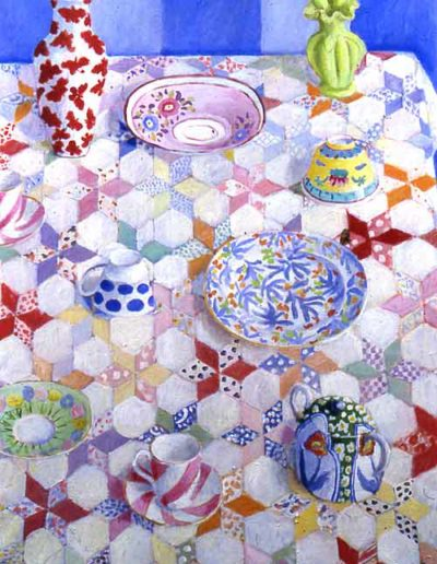 """Pastel Star Patchwork • 48"""" by 36"""" • £4950"""
