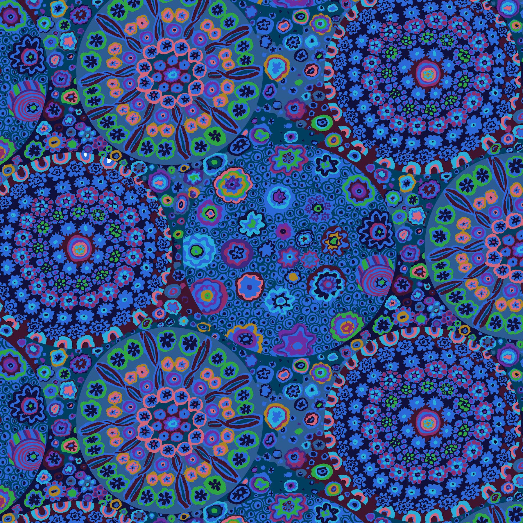 Millefiore - WIDE BACK QBGP006 - Blue
