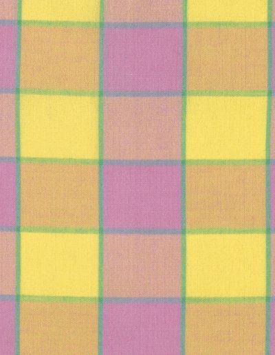 Checkerboard Plaid Ikat - WOKF003 - Pink